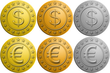 Spielgeld Münzsammlung