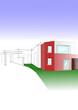 plan de maison rouge