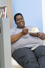 Man Eating Cake