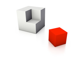 incomplete cube