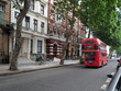 London residential street with double decker bus