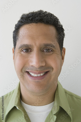 Studio portrait of man smiling