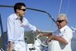 Outdoor boat vacation summer, men generation