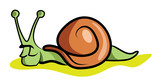 Slow Snail Resting for the Day poster