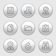 Gray disk web icons, set 3