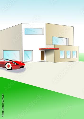 plan de belle maison moderne