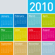 Colorful Calendar for year 2010. in vector format.