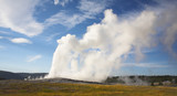 Boiling geothermal geyser poster