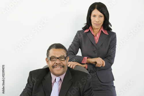 Portrait of a businessman and businesswoman