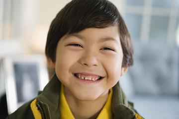 Portrait of a cheerful boy.