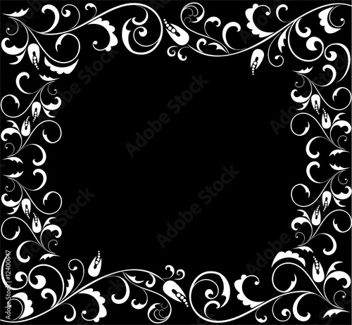 Black And White Floral. lack and white floral