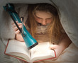 Reading With Flashlight
