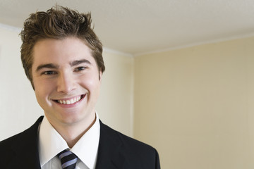 Portrait of a smiling young man.