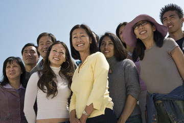 Crowd of Asian people
