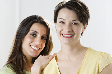 Portrait of women smiling.
