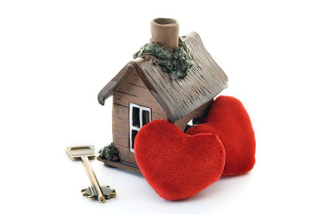 Key from a house for loving hearts..