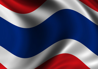 Thailand Flag of - Close up