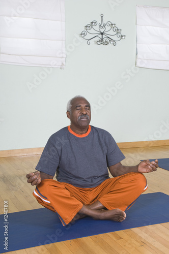 Senior Man Meditating
