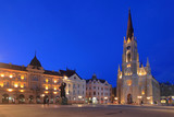 Neogothic cathedral of the city of Novi Sad in Serbia at dawn poster