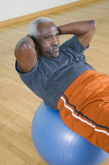 Senior Man Doing Sit-ups