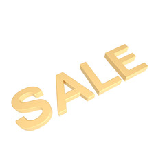 Sale - gold sign.