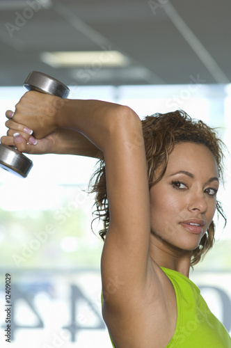 Woman Weightlifting with Dumbbell