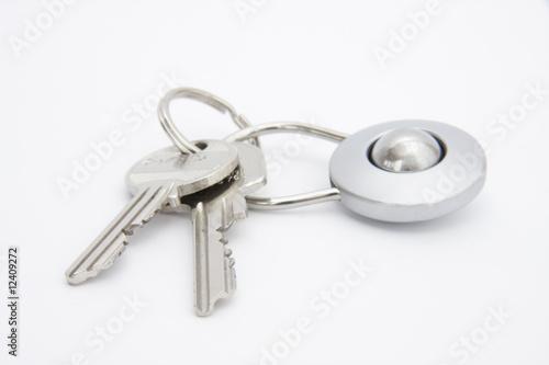 Leinwanddruck Bild Schlüssel mit Anhänger