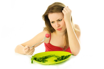 young woman keeping a diet
