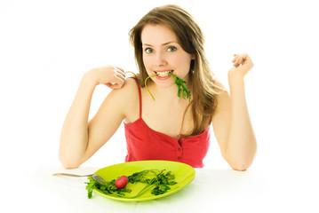 beautiful woman keeping a diet