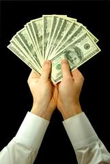 Money in hands