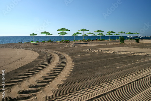 Morning beach in Skala