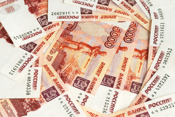 Background with Russian roubles