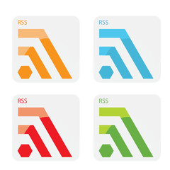 Vector abstract RSS icons.