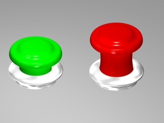 red button and green button