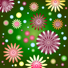 Abstract   beautiful  floral background (vector)