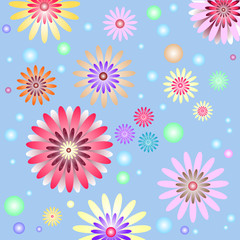 Abstract   gentlel  floral background