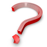 Fototapety Question mark of books
