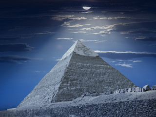 Chefren's pyramid fantasy. Egypt series