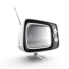 Stylish retro TV - white edition.
