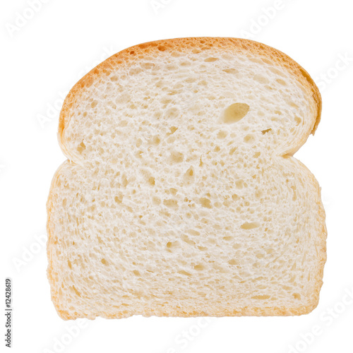 Fotobehang Brood Slice of bread isolated on white background..