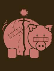 Fractured Piggy Bank