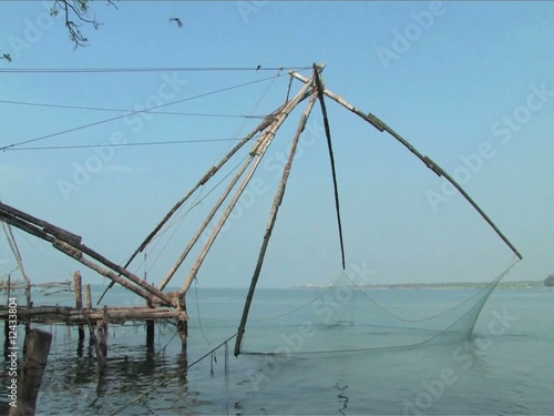 Chinese fishing nets found in Cochin, India