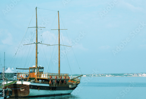 tallship in sea