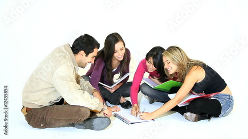 Group of students on the floor