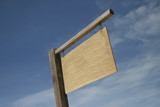 Blank Wooden Signboard poster