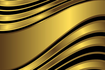 Diagonal golden and black  stripes  background (vector)