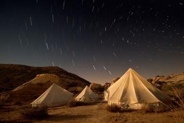 notturna di un accampamento