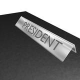 president label poster