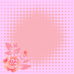 Gentle pink floral  background with rose (vector)