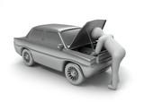 repair car human poster